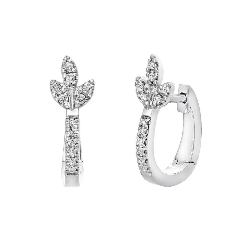 fotos oficiales 99ff3 66353 Pendientes de aro hoja diamante plata | Aristocrazy
