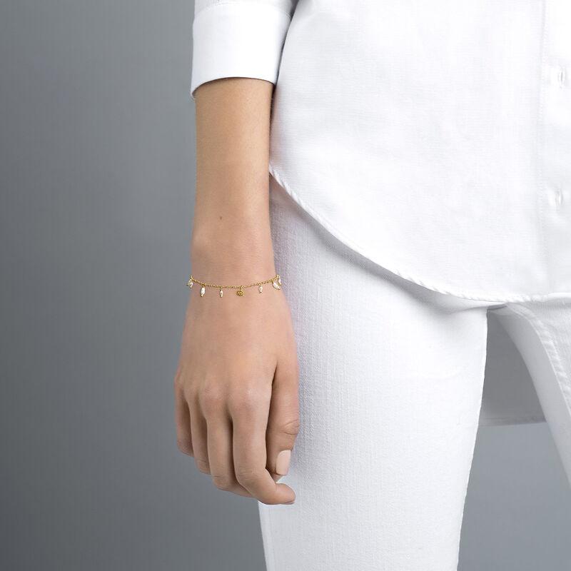 Bracelet perle baroque argent plaqué or, J04471-02-WP, hi-res