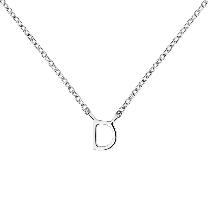 White gold Initial D necklace, J04382-01-D, hi-res