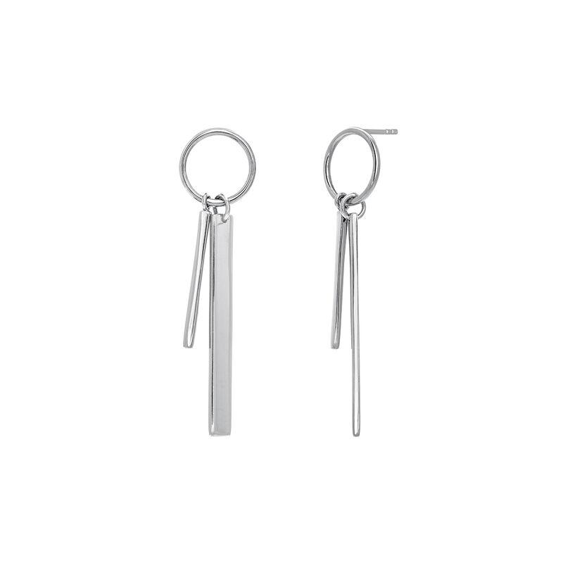 Pendiente aro doble barra plata, J03659-01, hi-res