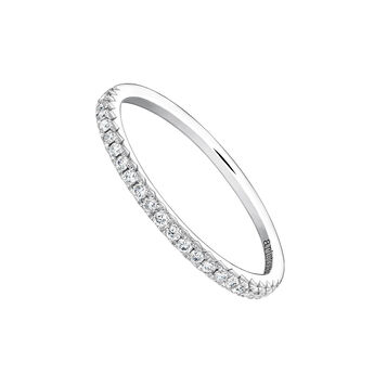 Anillo orla diamantes 0,15 ct oro blanco, J03938-01-15, hi-res