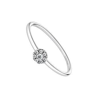 Rosette diamond solitaire ring 0.06 ct white gold, J04205-01-06, hi-res