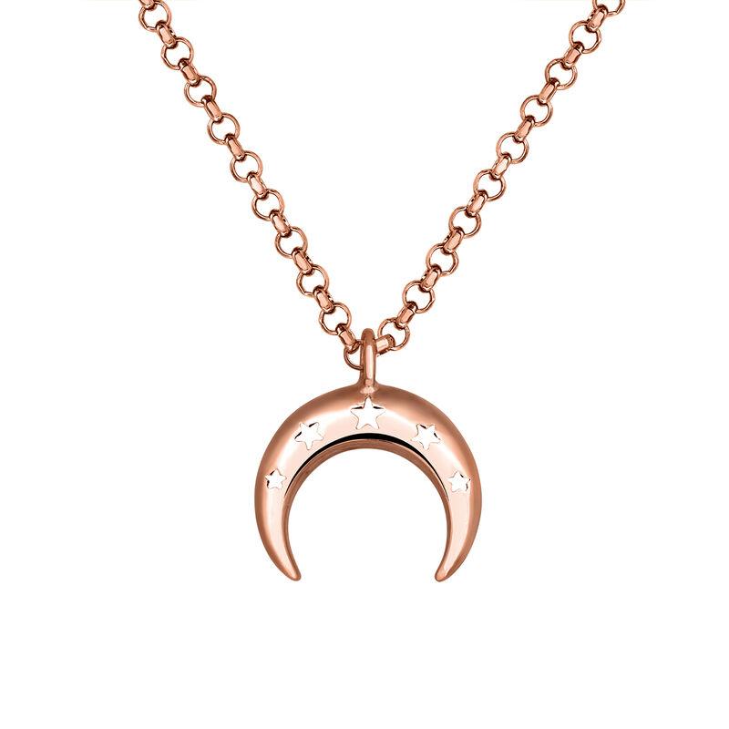 Colgante luna oro rosa, J03461-03, hi-res