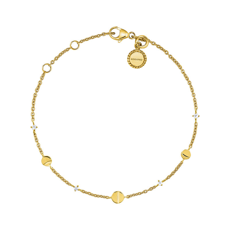 Gold moon topaz bracelet, J04000-02-WT, hi-res