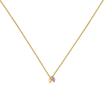 Gold Amethyst Bohemian Necklace, J03545-02-AM, hi-res