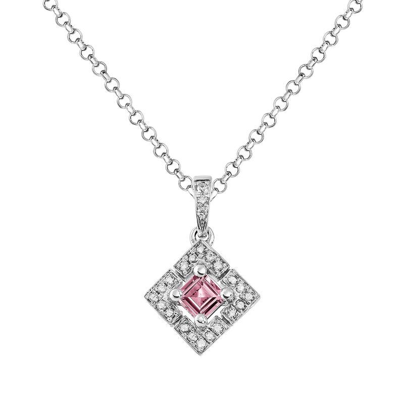 Colgante cuadrado turmalina rosa plata, J03774-01-PTU, hi-res