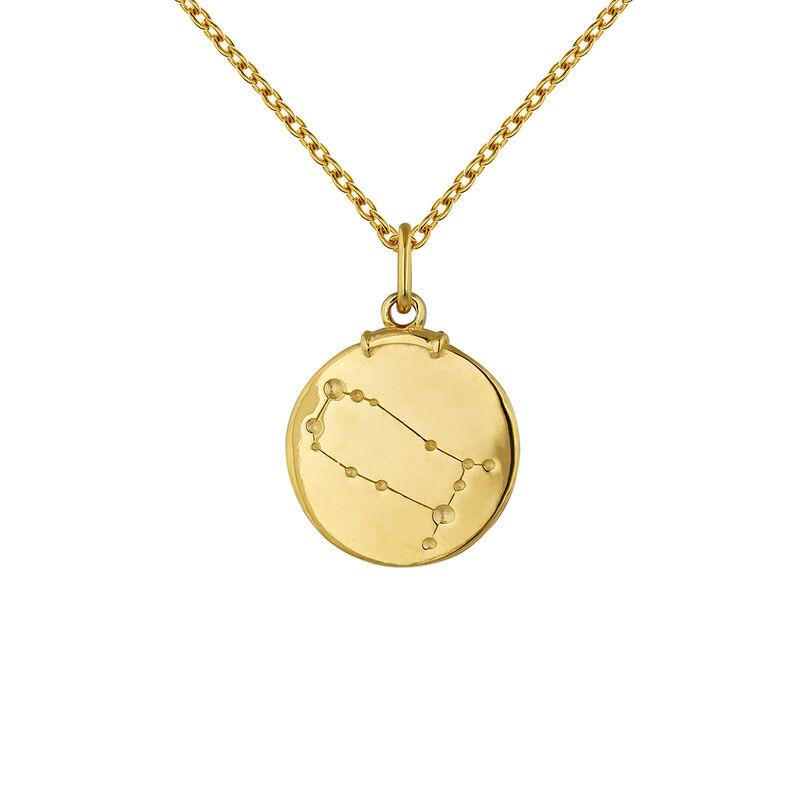 Pendentif gémeaux argent plaqué or, J04780-02-GEM, hi-res