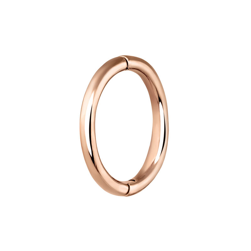 Large rose gold hoop earring piercing, J03844-03-H, hi-res
