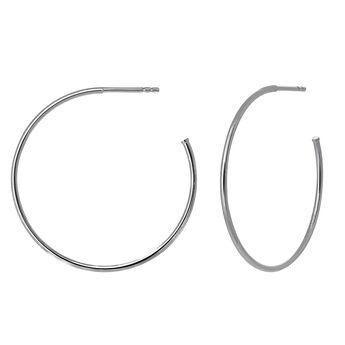 Pendientes aro grande plata, J03520-01, hi-res