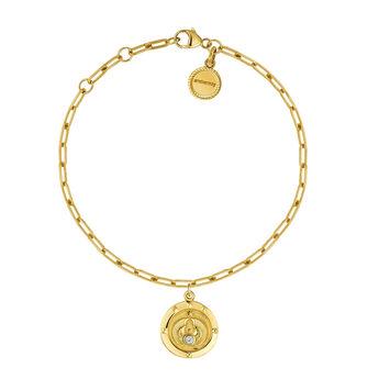 Bracelet monnaie topaze or, J03592-02-WT, hi-res