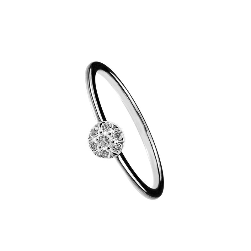 Anillo roseta diamantes oro blanco 0,10 ct, J00922-01-10, hi-res