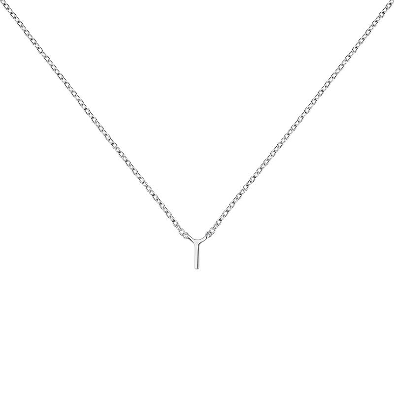 Collier iniciale I or blanc, J04382-01-I, hi-res