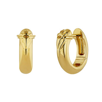 Gold plated fantasy motifs hoop earrings, J04559-02, hi-res