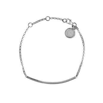 Silver tube bracelet, J01706-01, hi-res