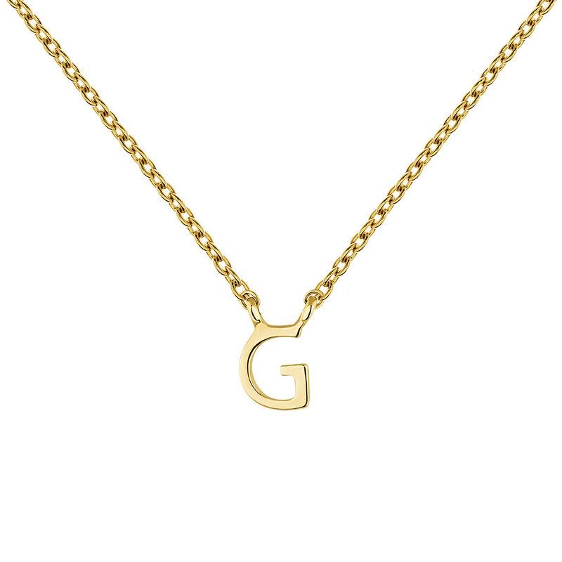 Collar inicial G oro9 kt, J04382-02-G, hi-res