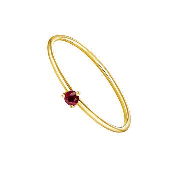 Anillo solitario rubí oro 9 kt, J04068-02-RU, hi-res