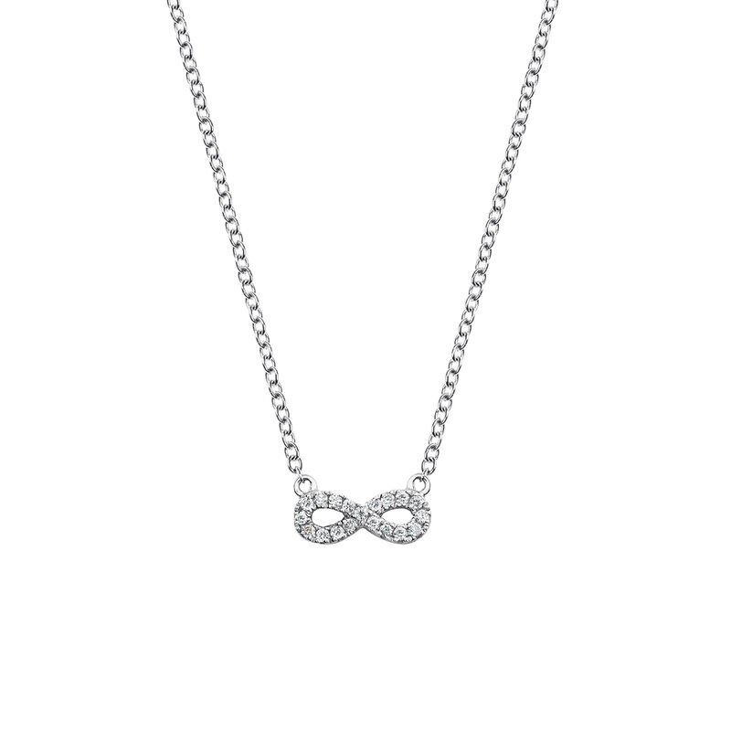 Collier infini diamants 0,05 ct, J03025-01, hi-res