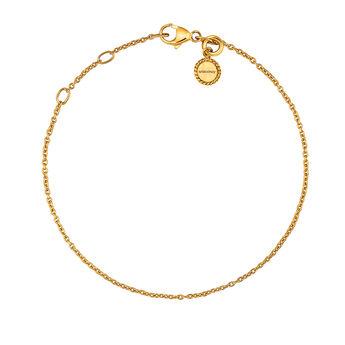 Pulsera simple plata recubierta oro, J03436-02, hi-res