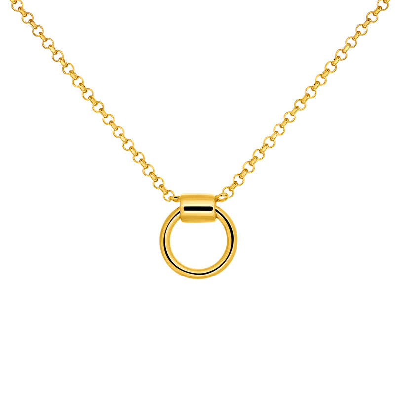 Gold plated hoop choker, J03477-02, hi-res