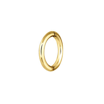 Small gold hoop earring piercing, J03842-02-H, hi-res