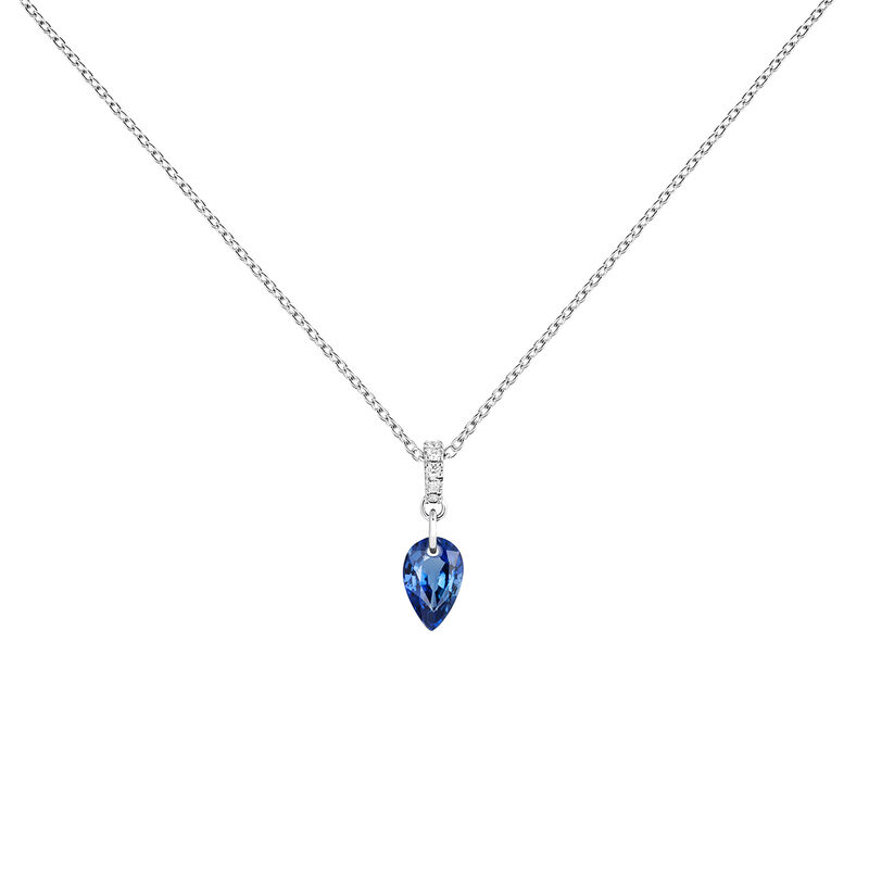 Necklace sapphire and diamonds in white gold, J04083-01-BS, hi-res