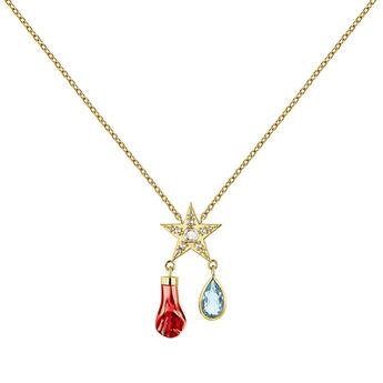 Petit collier étoile plaqué or, J04298-02-SKYWT, hi-res