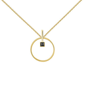 Gold plated spinel necklace , J04062-02-BSN, hi-res