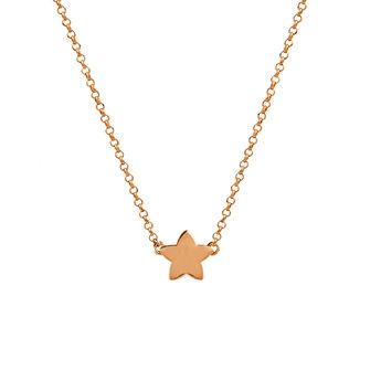 Rose gold star necklace, J01083-03, hi-res