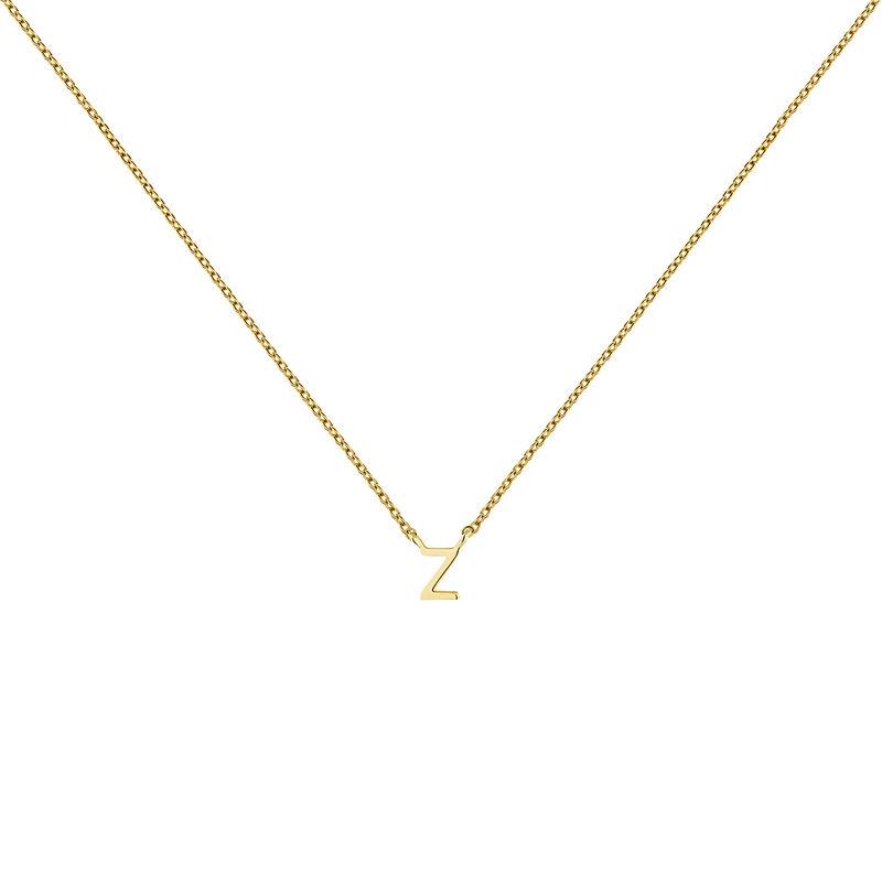Collar inicial Z oro9 kt, J04382-02-Z, hi-res