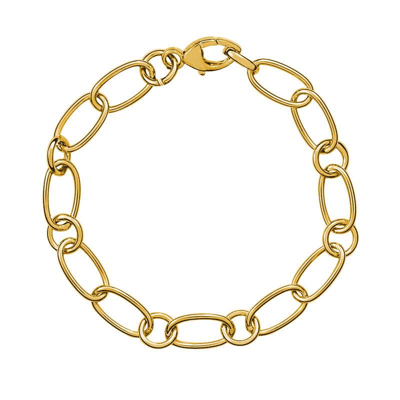 Pulsera fina mix eslabón oro, J00914-02, hi-res