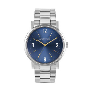 Brooklyn watch bracelet blue face, W45A-STSTBU-AXST, hi-res