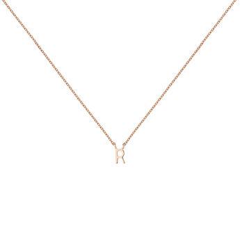 Collar inicial R oro rosa, J04382-03-R, hi-res