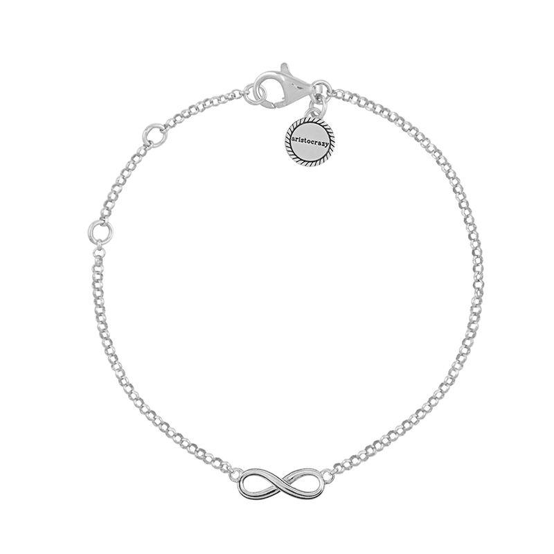 Silver infinity bracelet, J01246-01, hi-res