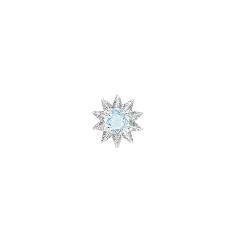 Silver earring with diamond and topaz, J03303-01-SKYHSP, hi-res