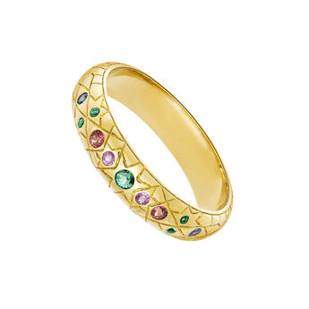 Gold ring with stones, J03572-02-SA, hi-res