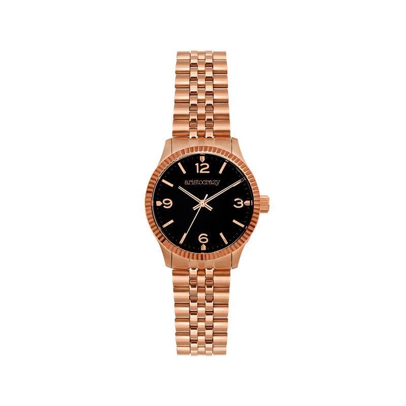 Montre St. Barth bracelet cadran noir, W30A-PKPKBL-AXBL, hi-res
