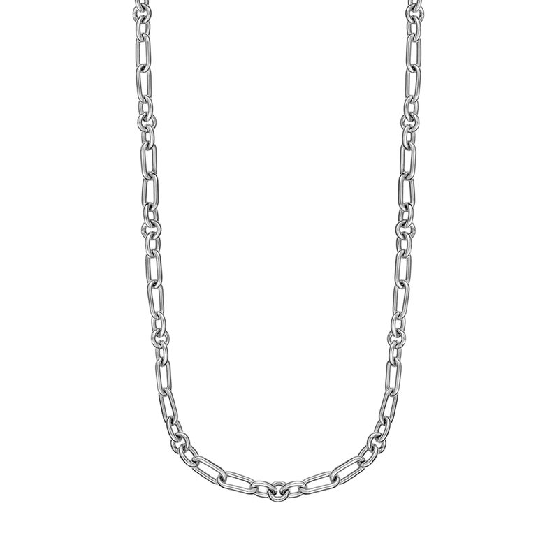 Silver mix links chain, J01335-01, hi-res