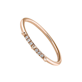 Rose gold spike and diamond ring 0.03 ct, J03879-03, hi-res