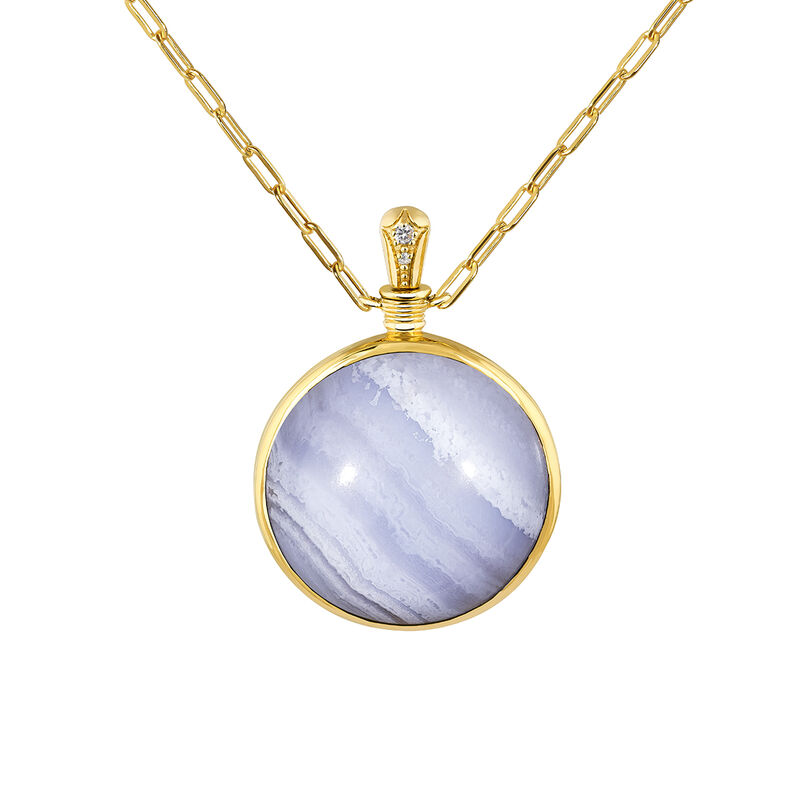 Collier grand agate bleue, J04128-02-BLAG-WT, hi-res