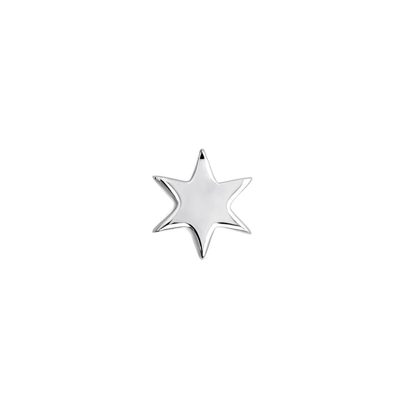 White gold star earring piercing, J03834-01-H, hi-res