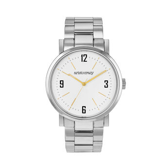Brooklyn watch bracelet white face, W0045Q-STWH-ST, hi-res