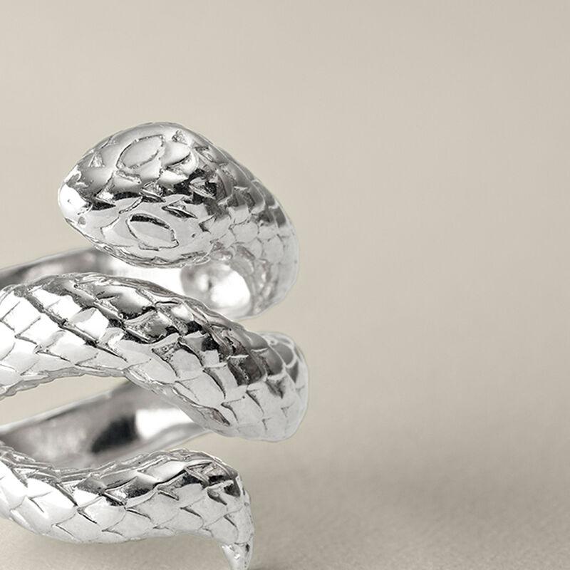 Silver open snake ring, J00305-01, hi-res