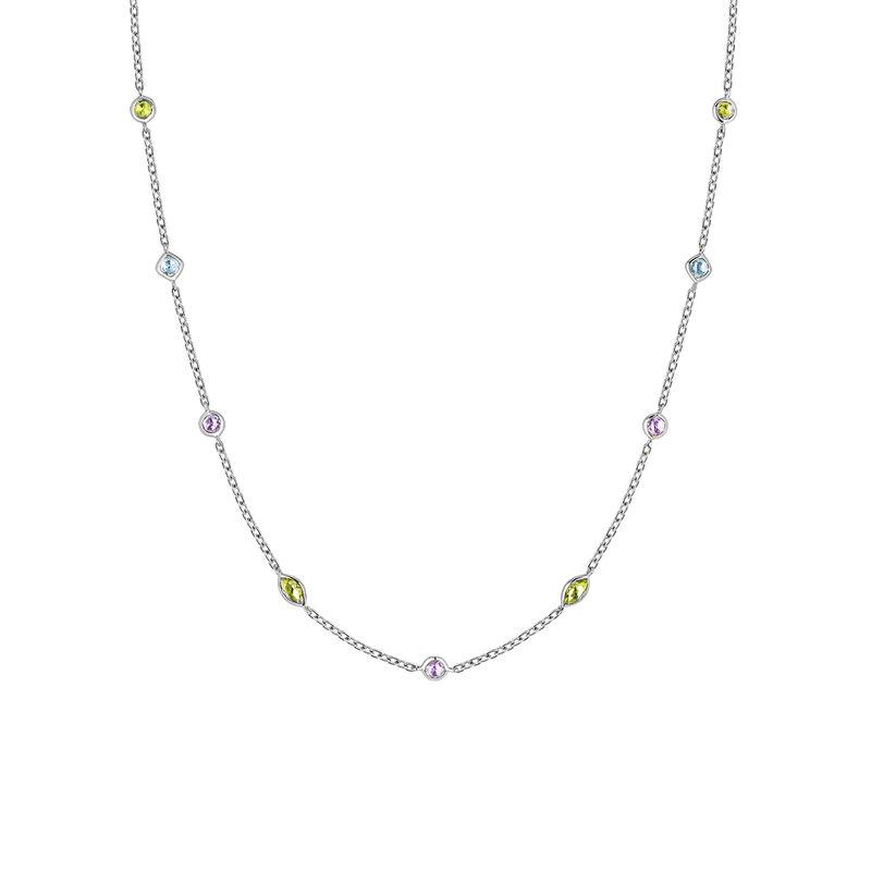 Collier mix pierres argent, J03765-01-AMPESB, hi-res
