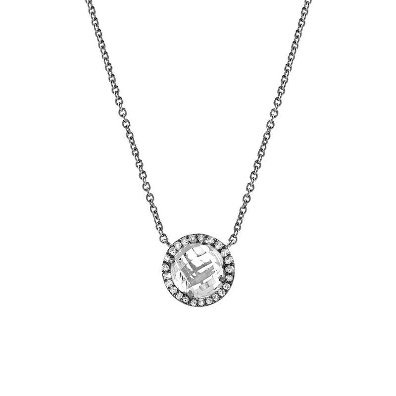 Collier topaze diamants argent, J00824-01-WT, hi-res