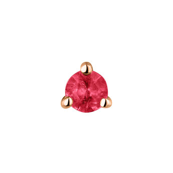 Meduim rose gold ruby earring, J04346-03-RU-H, hi-res