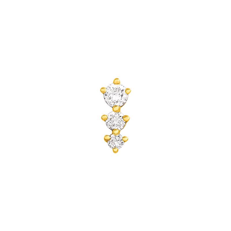 Pendiente triángulos diamantes oro 0,055 ct, J03356-02-H, hi-res