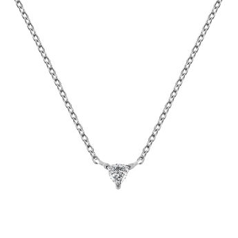 Triangle necklace diamonds, J03364-01, hi-res