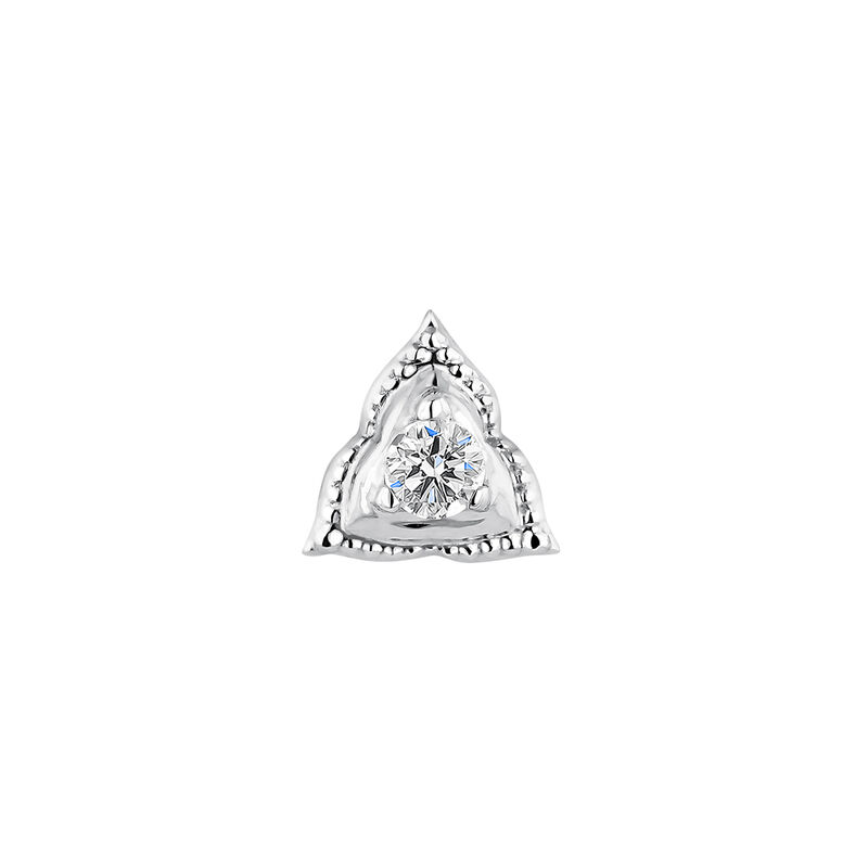 Large white gold triangle piercing diamond 0.012 ct., J04359-01-H, hi-res