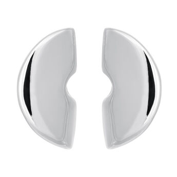 Boucles d'oreilles grandes sculptures argent, J03506-01, hi-res