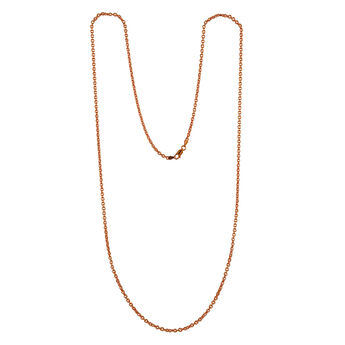 Cadena roló ovalada corta oro rosa, J00563-03-60, hi-res
